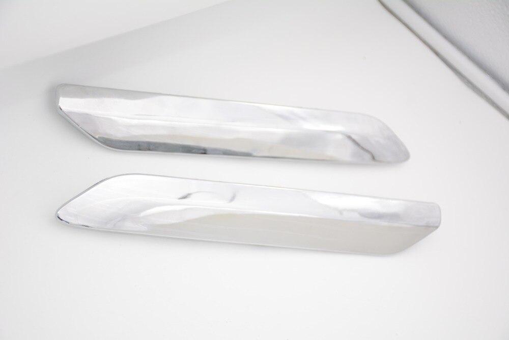 2 Pcs/Pair RH and LH Silver Car Rear Bumper Decoration Chrome Strip Cover Trim Moldings For Citroen C5 2008-2015 front bumper foglight decoration strip 2 pcs