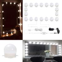 18 Vanity Lights LED Makeup Mirror Hollywood Vanity Stick on Bulbs for Dressing Table,Bedroom lights with Dimmer