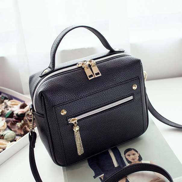 Women Bags Messenger Shoulder Casual Ladies New-Fashion Pu Solid title=