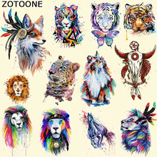 ZOTOONE Iron On Patches Colorful Fox Patch T-shirt Dress Sweater DIY Transfer Accessory Decoration Appliqued Heat Press