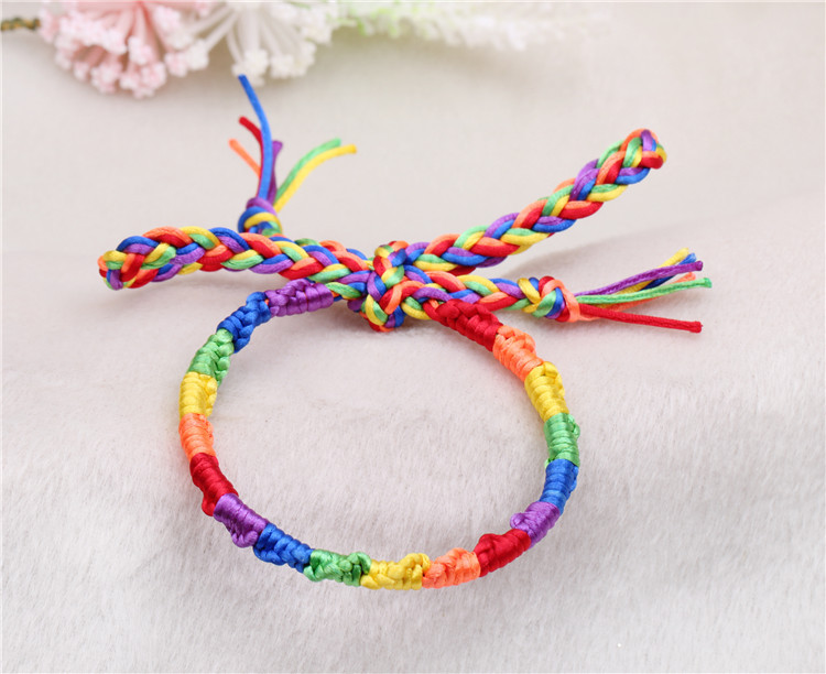 Bulk Rainbow Jewelry 2016new Handmade Braided Bracelet Italian Flag Bracelets