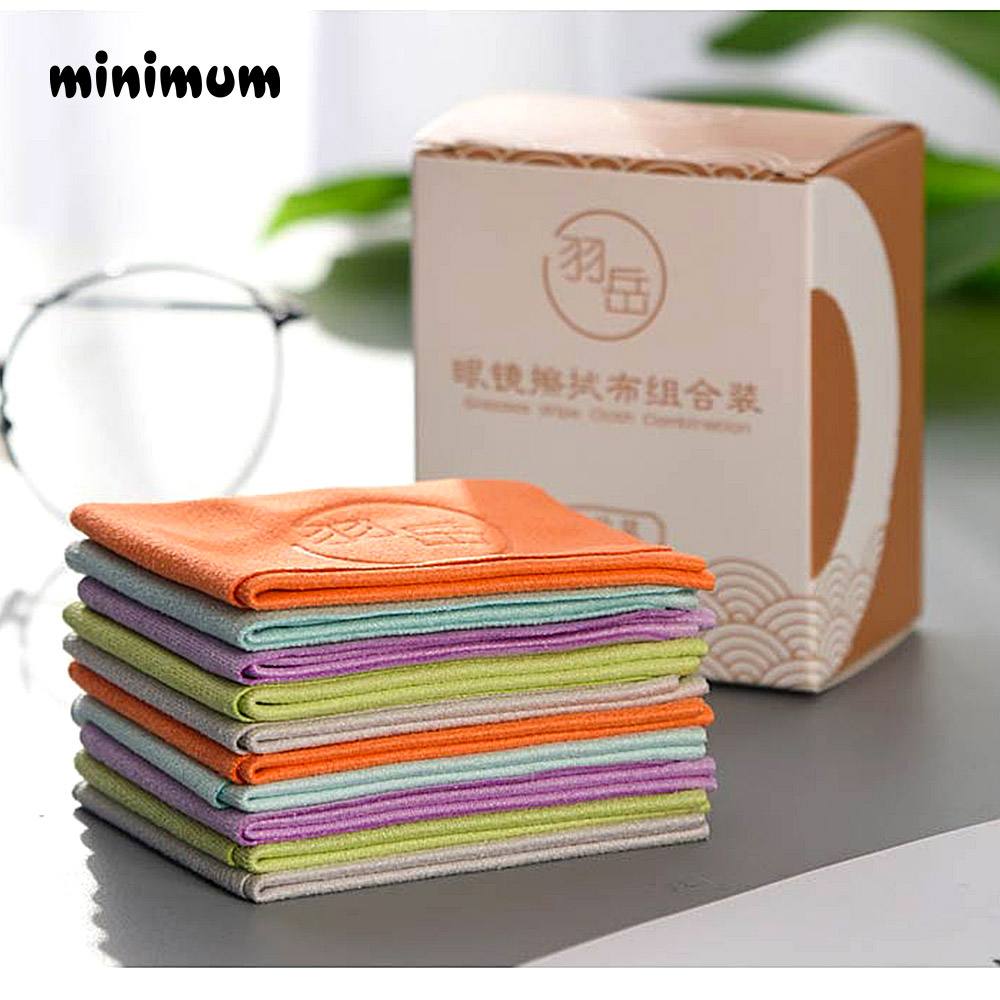10 pcs/lots Eyeglasses Chamois Glasses Cleaner 150*175mm Microfiber Glasses Cleaning Cloth For Lens Phone Screen Cleaning Wipes image