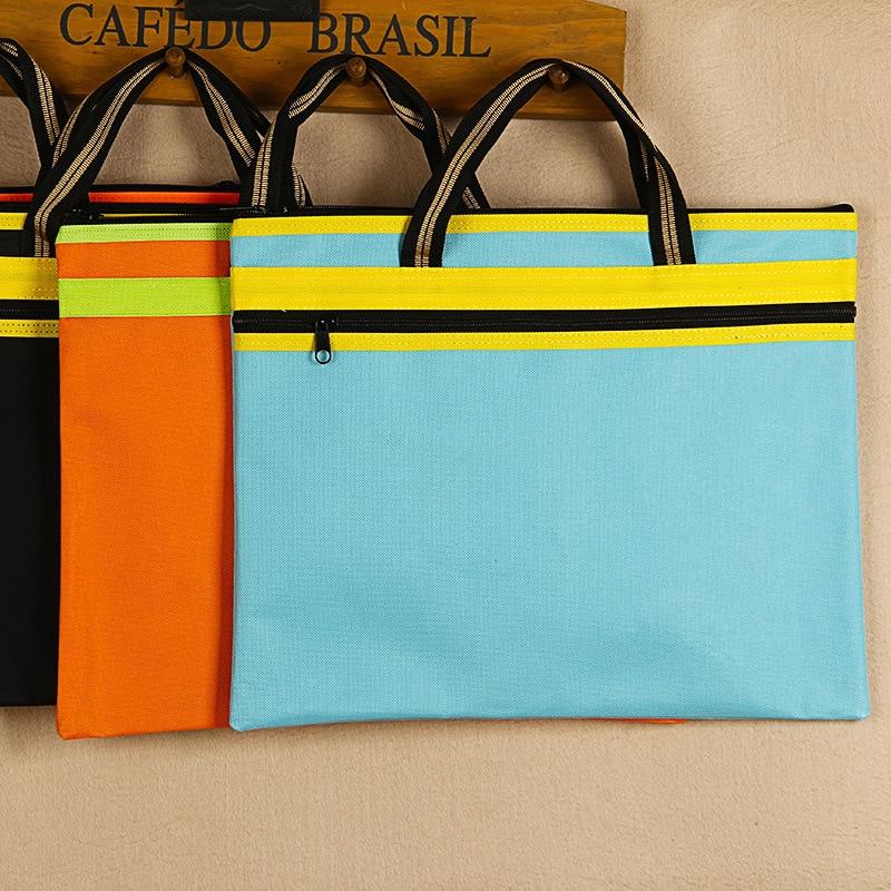 YILE Bright Color 37x30cm File Folder Zipper Bag Office Document Handbag 4 Colors 17323