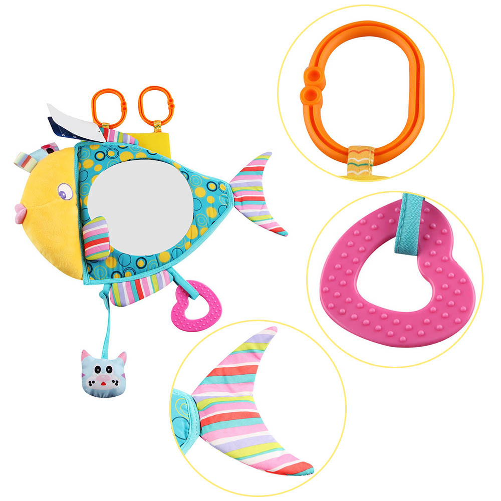 Safe Rearview Distorting Mirror Clear Baby-in-Sight Hanging Backseat Mirrors in Safety Chair Car for Baby Adults Sea