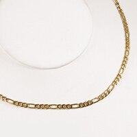 TL עיצוב מיוחד שרשרת שרשרות תליון גברים/נשים שרשרת תכשיטי זהב צבע נירוסטה 3.8 מ