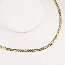TL diseño especial Cadenas COLLAR COLGANTE hombres/mujeres joyería oro color acero inoxidable 3.8mm cuerda torcida cadena