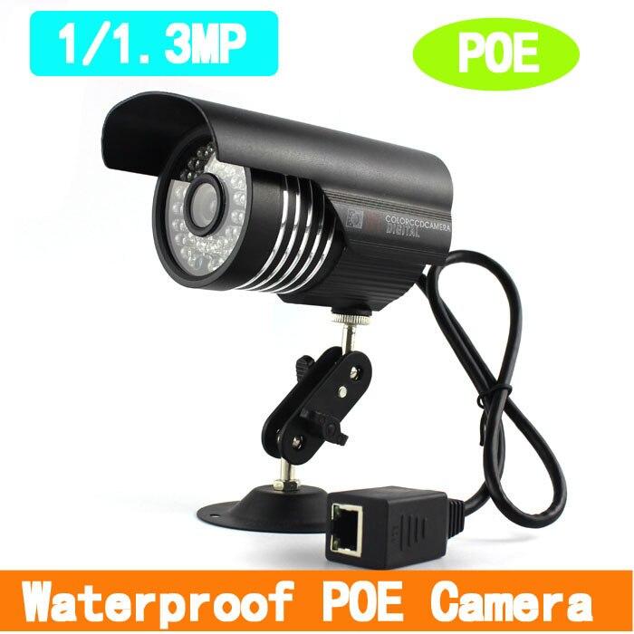 Onvif 1MP/ 1.3MP HD POE IP Camera Outdoor  Waterproof  IR-Cut  Support P2P Smart Phone View Bullte POE CameraOnvif 1MP/ 1.3MP HD POE IP Camera Outdoor  Waterproof  IR-Cut  Support P2P Smart Phone View Bullte POE Camera