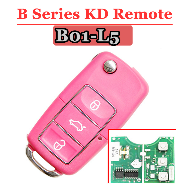 Free shipping (5 pcs/lot)Keydiy B01L-05 Luxury 3 Button Remote Key with Red colour for URG200/KD900/KD200