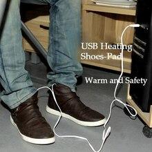 Électrique USB Chauffage Pantoufle D'hiver Pour Le Travail De Bureau Chauffe-pieds Pad Coton Pieds Chauffe-Pied USB Chauffée Pad