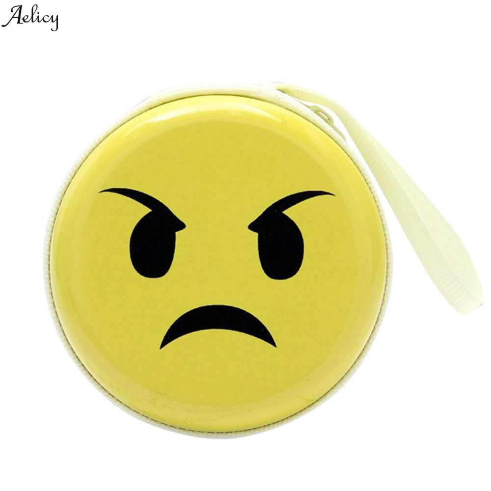 Высокое качество портмоне девушка сотовый телефон карманный мини монета Симпатичные выражение элементы круглый гарнитура чехол кошелек сумка мешок 2019