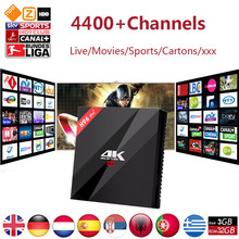 H96Pro + 3G/32G Amlogic S912 octa-core Android 6.0 + Europe Italie Italien Allemagne Pays-Bas Portugal Adulte xxx IPTV Set Top Box
