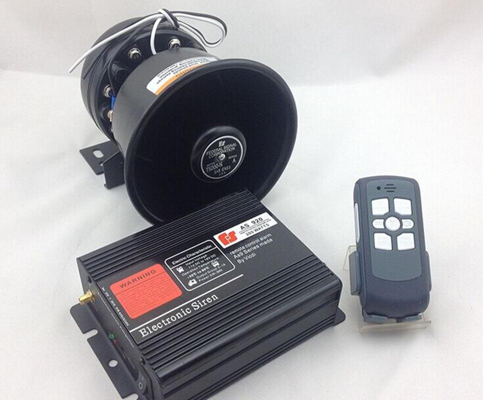 920 Car Styling 200W 12V Car Alarm Siren Electronic Horn Wireless 9 Tone Car Loudspeaker Police Siren Automotive Buzzer