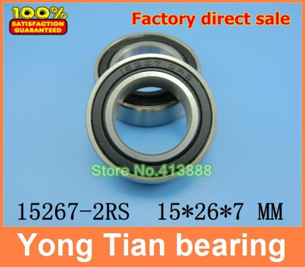 Bicycle wheel bearing repair parts 15267-2RS 15*26*7 mm 15267 2rs 15 26 7mm 15267rs si3n4 hybrid ceramic wheel hub bearing