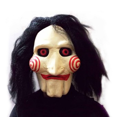 saw movie jigsaw puppet mask halloween full mask head latex creepy scary cosplay mask tokyo ghoul - Halloween Scary Faces