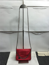 real picture mini chain bag 2016 NEW material PVC handbag  Shoulder women silver chain  bag