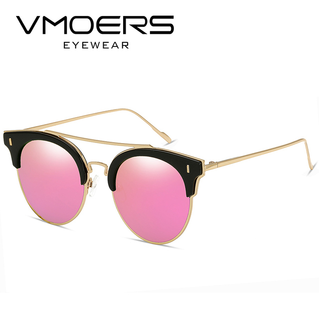4b02f74ce1 VMOERS Aviator Round Sunglasses Women Mirror Luxury Style Sun Glasses For  Women Brand Designer 2017 Shades Oculos Female Metal
