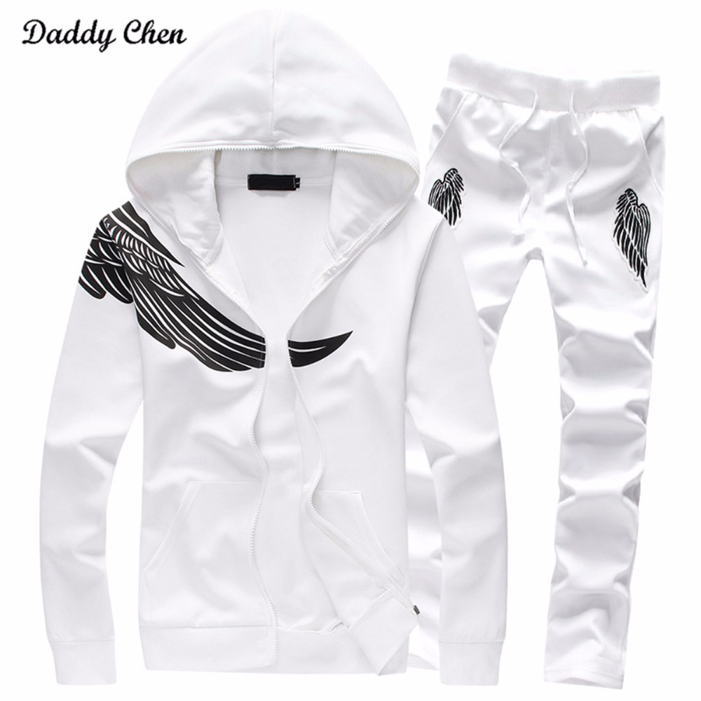 M-5XL big size Mens Suit Autumn Winter new 2018 cotton sporting set men pant suits Fitness baseball track suit male