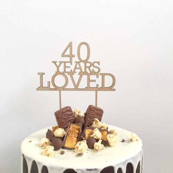 Groovy Custom Age Birthday Cake Topper 60 Years Loved Cake Topper 60Th Funny Birthday Cards Online Bapapcheapnameinfo