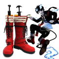 Anime Ao no Exorcist Okumura Rin Cosplay Del Partido Rojo Botas Custom-Made