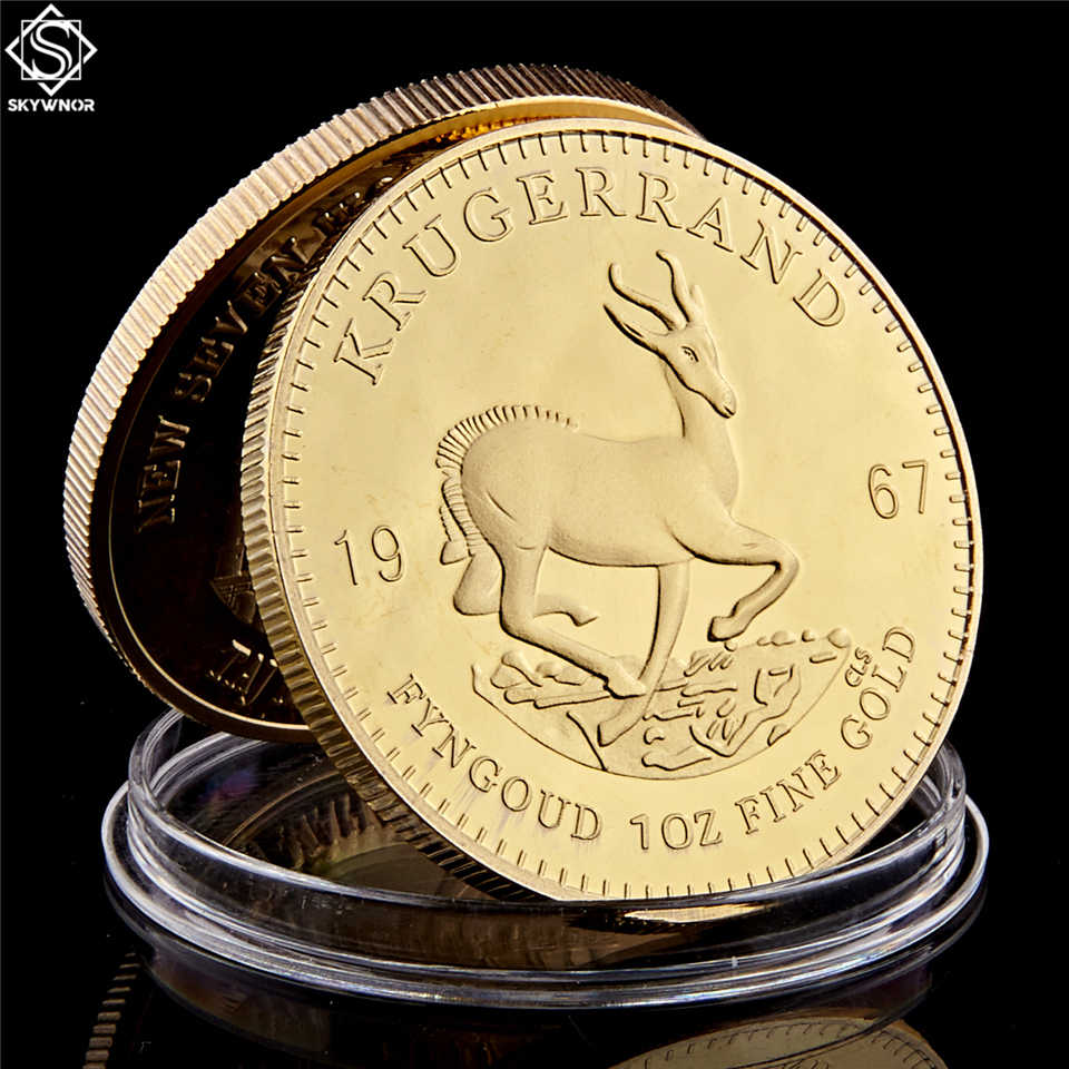 Năm 1967 Nam Phi Ả Rập Saudi Châu Phi Krugerrand 1 Đồng Tiền Vàng Paul Kruger Đột Quyết Giá Trị Sưu Tập Đồng Xu