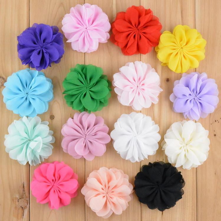 pslote chiffon flores boutique cabelo da flor diy beb crianas meninas enfeites de