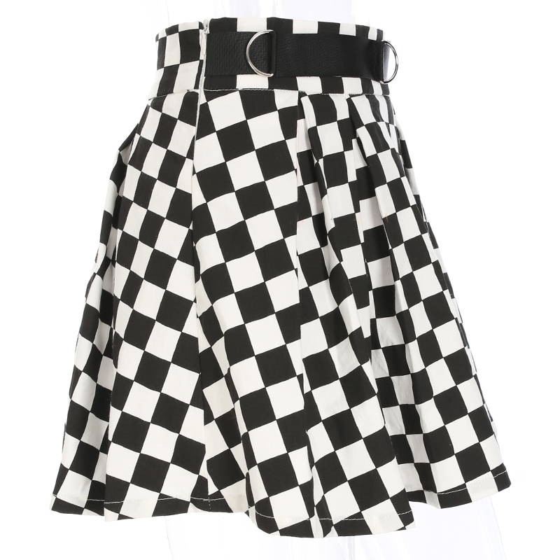 Disweet Pleated Plaid Skirts Womens High Waisted Checkered Skirt Harajuku Dancing Korean Style Sweat Short Mini Skirts Female 12