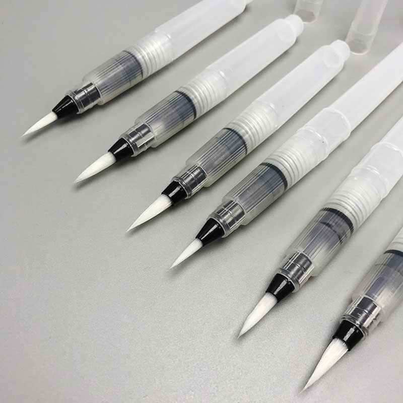 3Pcs Water Brush Refillable Pilot Paint Brush Pen Watercolor Brush Ink Pen Soft Watercolor Brushes