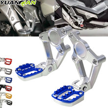 X-ADV Motorcycle accessories Aluminum alloy For HONDA XADV X ADV 750 2017 2018 Folding Rear Foot Pegs Footrest Passenger xadv