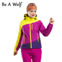 Be A Wolf Hiking Jackets Women Clothing Rain Skiing Outdoor Camping Heated Waterproof Windbreaker Winter Fishing