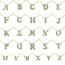 YANMEI Gold Alphabet Letter A To Z Pendant Chain Necklace For Women Hot Sale  Cubic Zircon Necklaces Jewelry YMD1227