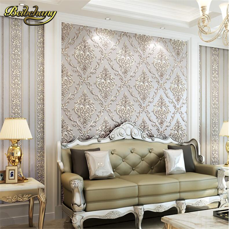 beibehang vertical stripes AB version of the three - dimensional non - woven living room bedroom  background wall paper free shipping 5pcs 216 0683010 216 0683013 216 0683008 in stock
