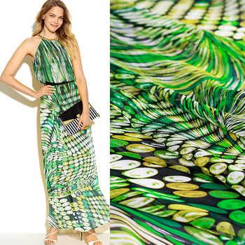 Colorful swirl silk chiffon dress elegant thin summer silk custom clothing fabrics - DISCOUNT ITEM  10% OFF Home & Garden