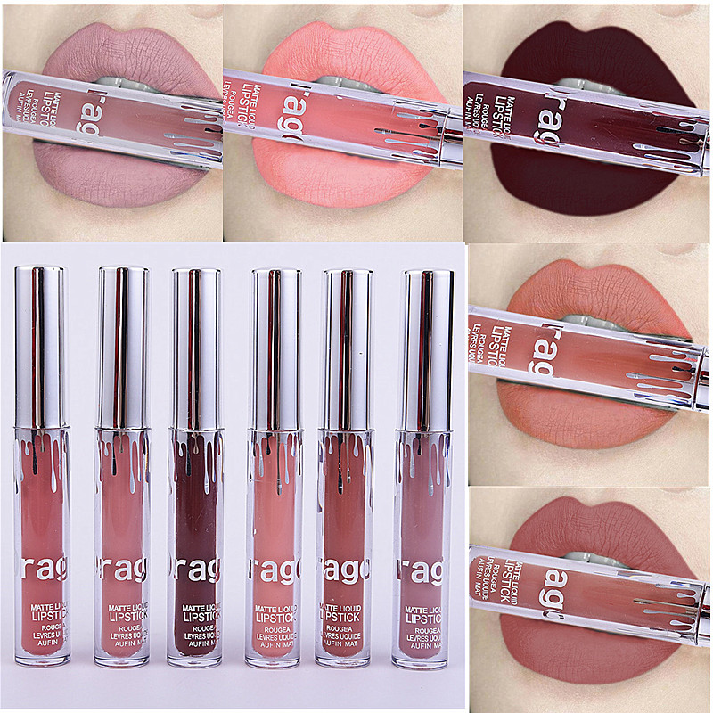 Dragon Ranee Beauty Waterproof Lip gloss Makeup Sexy Pigment Nude Color Not Fade Magic Lip Tint Brown Red Matte Liquid Lipstick