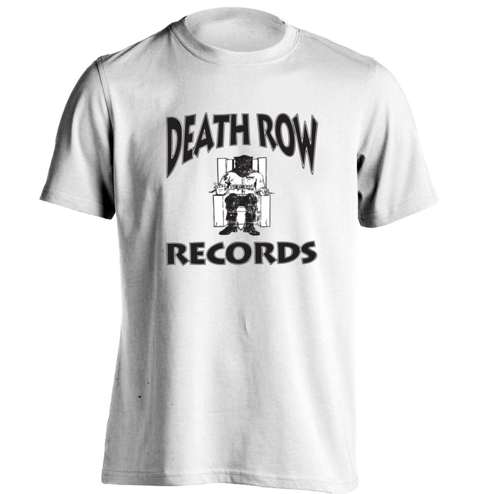 Death row records mens womens printing t shirt baseball Designer baseball shirts