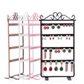 LAN LIN jewelry display holders Metal Stand Holder Closet Jewelry Earrings Organizers Showcase 48 holes display rack hot selling