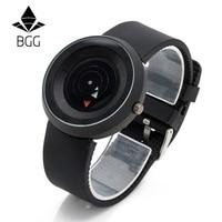 Hot Fashion Creative Watches Men New Design BGG Popular Brand Black Silicone Wristwatches High Quality Unique