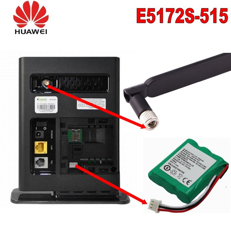 Lot Of 10pcs Huawei E5172 LTE CPE 4G Unlocked Mobile Broadband LAN Wifi Hotspot Route With Battery And Antenna