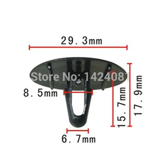 ᗛ20x OEM nylon sujetador capucha aislamiento clip de retención para ...