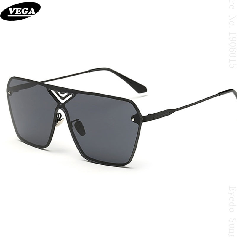 59fc532a7a VEGA Unique Frameless Sunglasses Men Women Latest Novelty Sunglasses Online  HD Vision Hipster Glasses Extra Wide Lens 1684-in Sunglasses from Apparel  ...