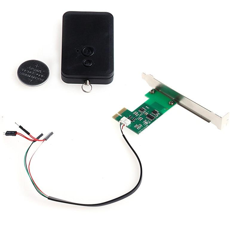 OPEN-SMART New Mini PCI-e Desktop PC Remote Controller 20m Wireless Restart Switch Turn On/OFF For Desktop Computer Hot Sale