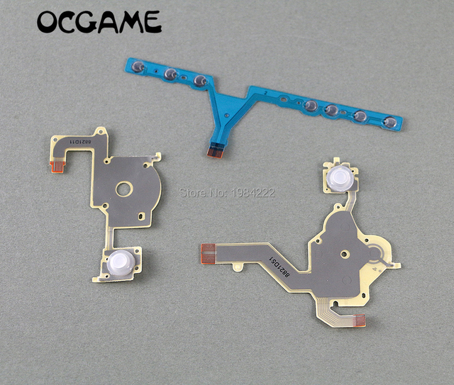 OCGAME 10sets/lot high quality Replacement Direction Cross Button Left Key Volume Right Keypad Flex Cable for PSP 3000 psp3000