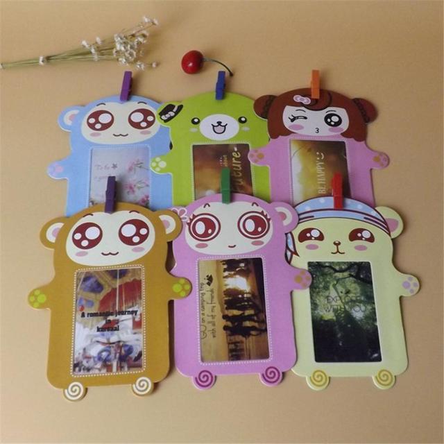 Muur Deco Diy Creatieve Mini Papier Fotolijst Met Mini Gekleurde