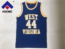 77b60fe947f Vintage 44 JERRY WEST VIRGINIA MOUNTAINEERS Basketball Jerseys Stitched Blue