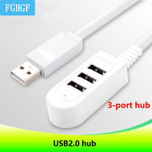 Mini usb connector 3-port hub multi-function usb hub 2.0 hub docking station