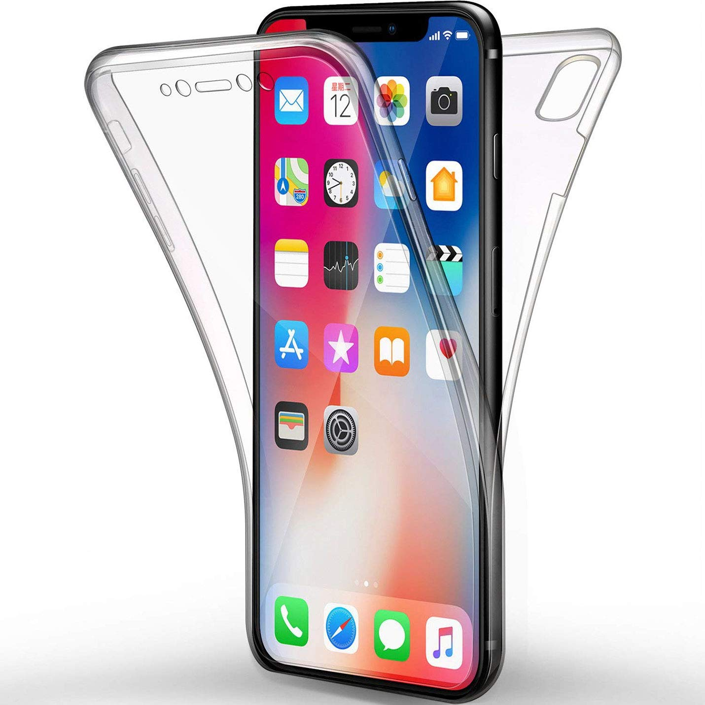 6521829c56e 360 Body Protect Clear Case for iphone XR X 10 XS MAX 6 7 8 6 s Plus 5 5s SE