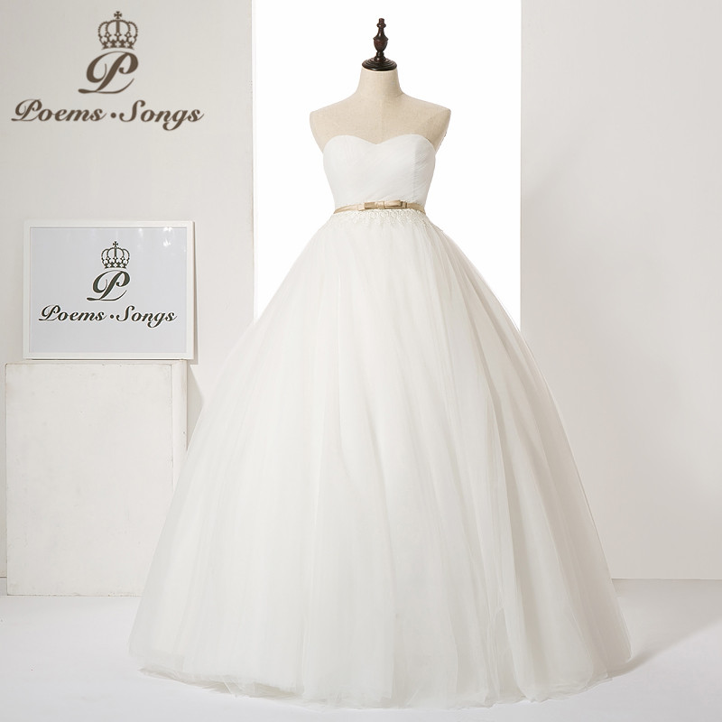 Poems Songs 2019 new style wedding dress simple wedding gown  Vestido de noiva   bride dress ball gowns robe mariage