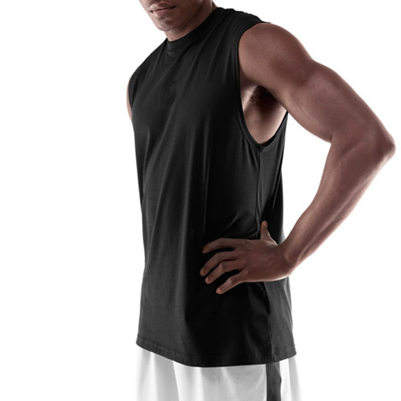 Goedkope Heren Basketbal Jersey ademend College Sport Team Basketbal T-shirt Mouwloos trainingsvest