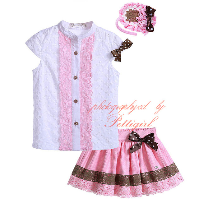 4bd18484b1d9 Pettigirl Newest Boutique Wholesale Baby Girl Clothing Set With Headwear  Single Breasted Tops And Pink Girl Skirt G-DMCS905-786