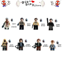 ФОТО 8 style walking dead cosplay model building blocks toy diy compatible legoinglys action figure model with weapons toys for child