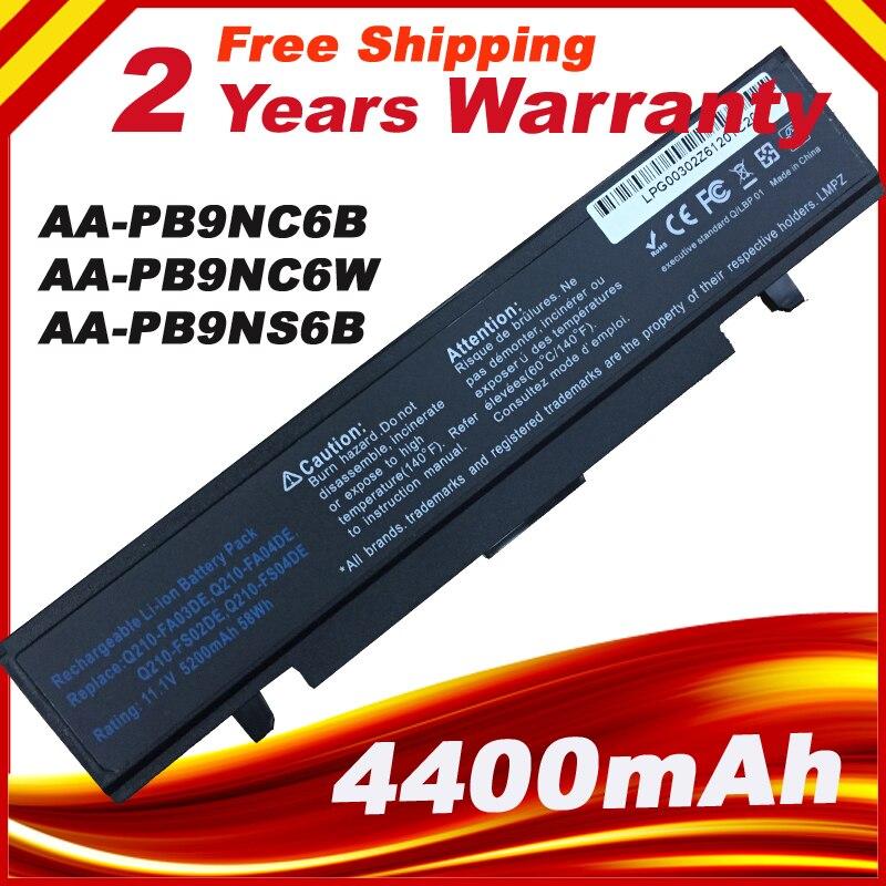 6 Cellules 5200 mah Batterie D'ordinateur Portable pour Samsung NP300E NP300E5A NP300E5A NP300E5C NP300E4A NP300E4AH NP270E5E AA-PB9NC6B AA-PL9NC2B